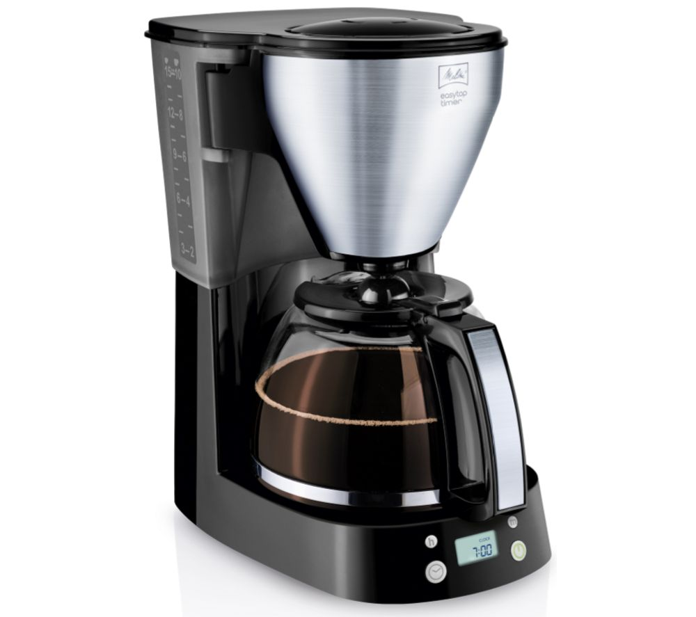MELITTA Easy Top Timer Filter Coffee Machine - Black & Stainless Steel