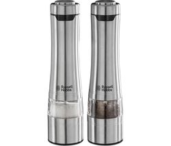 RUSSELL HOBBS Electric Illuminating Salt & Pepper Grinder - Stainless Steel
