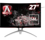 "AOC AG272FCX Full HD 27"" Curved LCD Monitor - Black"
