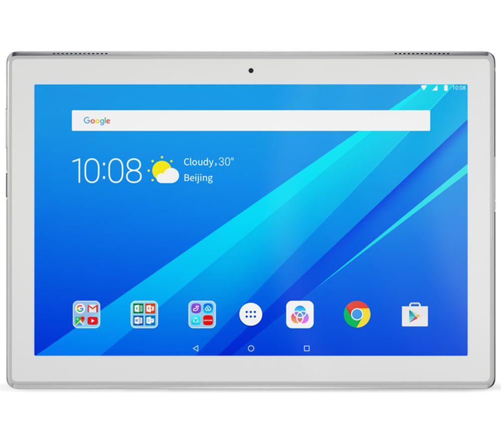 Image of LENOVO Tab 4 10 Plus Tablet - 16 GB, White, White