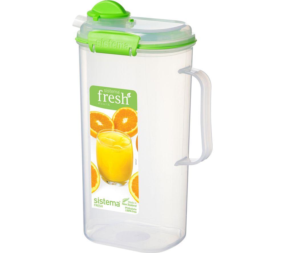 SISTEMA Fresh 2 litre Juice Jug - Green