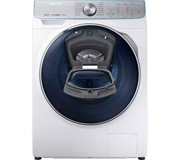 SAMSUNG QuickDrive + AddWash WW10M86DQOA Smart 10 kg 1600 Spin Washing  Machine - White