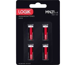 LOGIK LMN2118 MN21 Batteries - Pack of 4