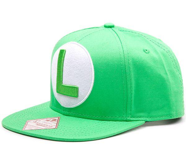 NINTENDO Luigi Logo Snapback Cap - Green Fast Delivery  5b8429bfc61e