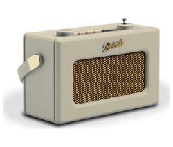 ROBERTS Revival Uno Retro Portable Clock Radio - Pastel Cream