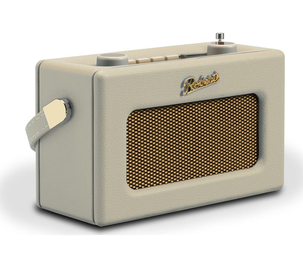 Compare prices for Roberts Revival Uno Retro Portable Clock Radio - Cream