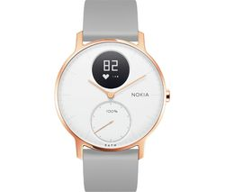NOKIA Steel HR 36 Fitness Watch - Rose Gold & Grey, Silicone Strap