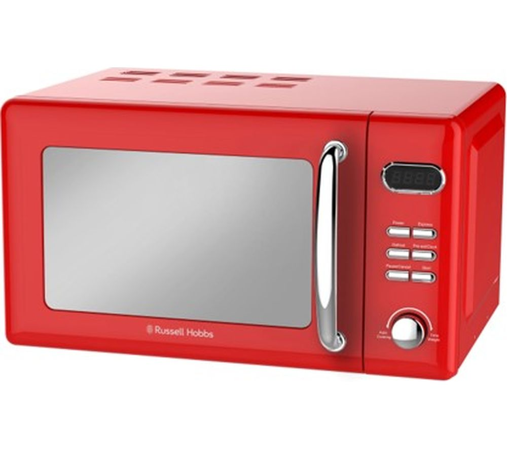 RUSSELL HOBBS Retro RHRETMD806R Compact Solo Microwave - Red