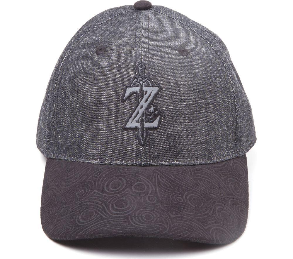 NINTENDO Zelda Breath of the Wild Z Logo Curved Bill Cap - Grey