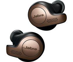JABRA Elite 65t Wireless Bluetooth Earphones - Copper Black
