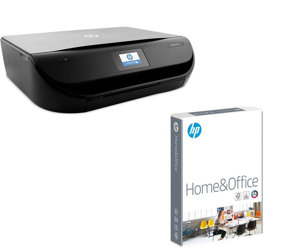 HP ENVY 5020 Wireless All in One Printer & 80 gsm A4 Home & Office Paper Bundle - 500 sheets