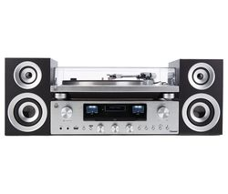 GPO PR100 Turntable with PR200 CD, Amplifier & Speaker System Bundle