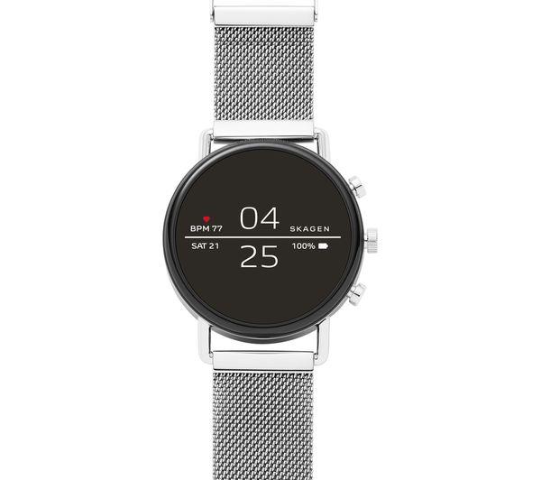 Image of SKAGEN Falster 2 Smartwatch - Silver, Metal Strap