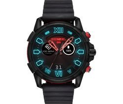 DIESEL Full Guard 2.5 DZT2010 Smartwatch - Black & Red, Silicone Strap