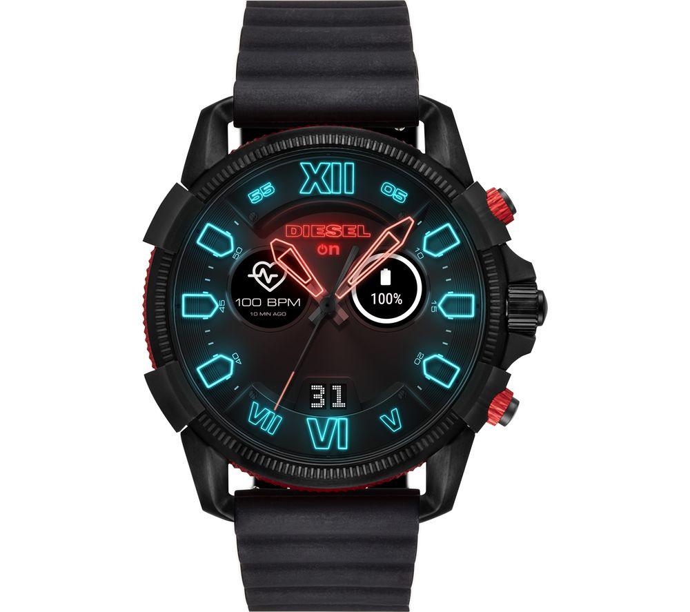 DIESEL Full Guard 2.5 DZT2010 Smartwatch - Black & Red, Silicone Strap