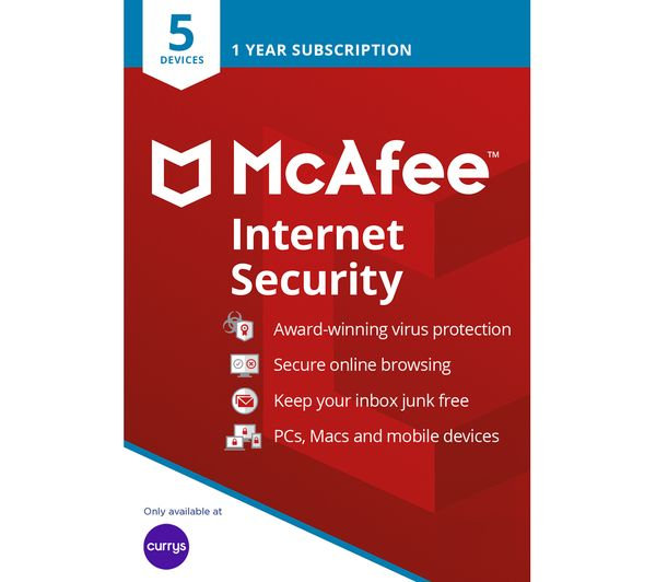Image of MCAFEE Internet Security - 1 year for 5 devices
