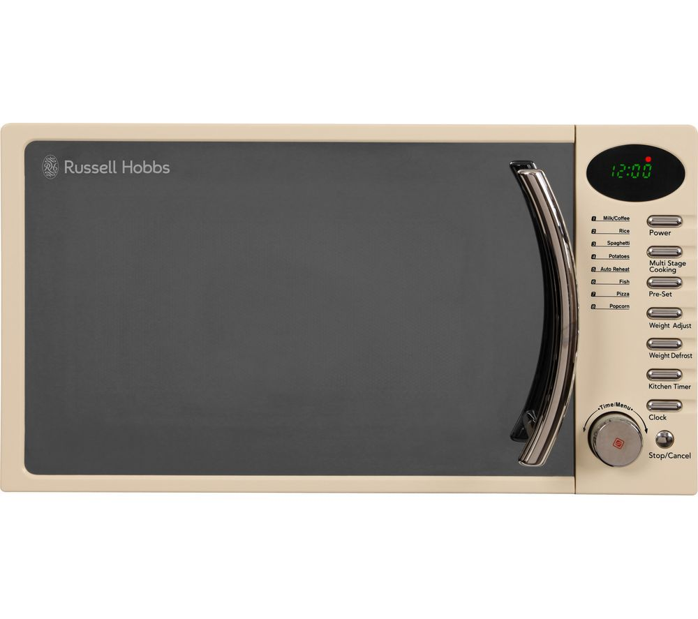 RUSSELL HOBBS RHM1714CC Compact Solo Microwave - Cream