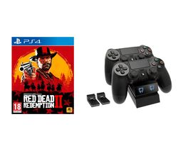 PS4 Red Dead Redemption 2 & Twin Docking Station Bundle