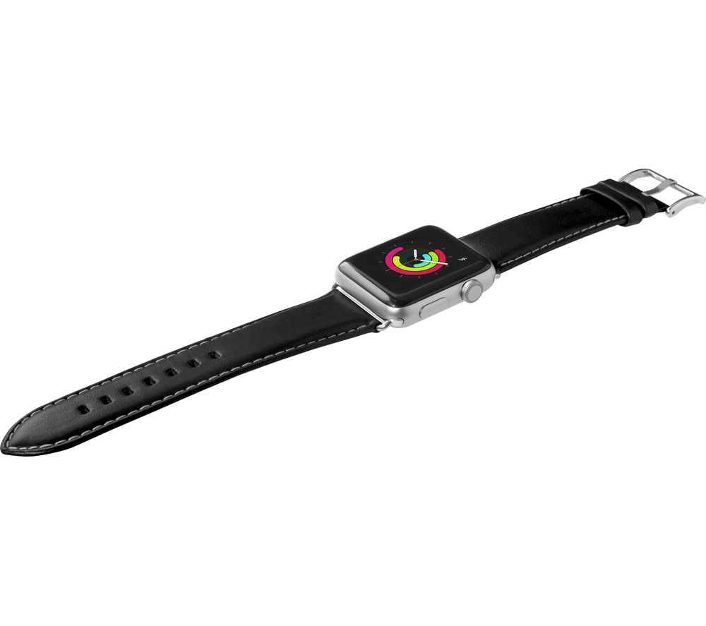 Image of LAUT Apple Watch 38 / 40 mm Oxford Leather Loop Strap - Noir, Small