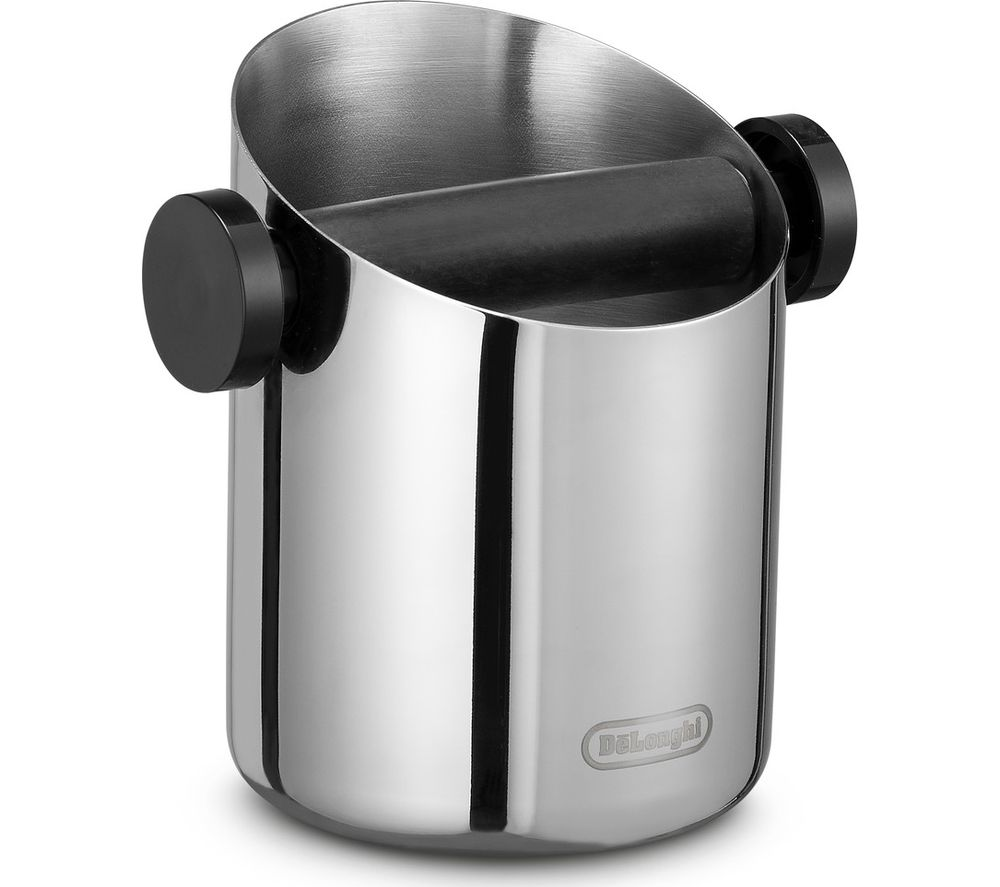 DELONGHI DLSC059 Coffee Knock Box - Silver, Silver