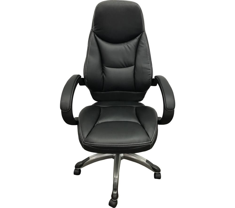 ALPHASON Portico Faux-Leather Tilting Executive Chair - Black