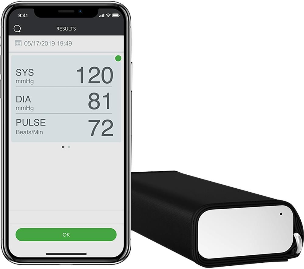 QardioArm Smart Blood Pressure Monitor - White & Black