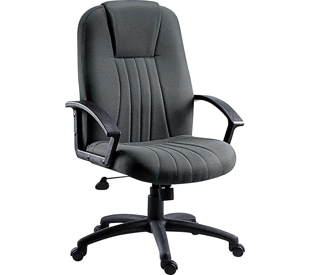 City Fabric Tilting Executive Chair - Charcoal, Charcoal