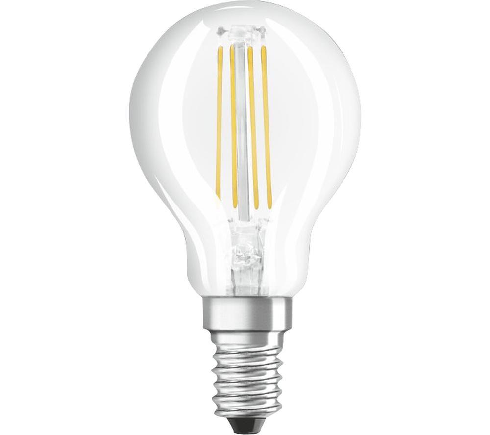 OSRAM Base Classic P LED Light Bulb - E14, Pack of 3