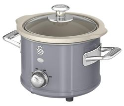 SWAN Retro SF17011GRN Slow Cooker - Grey Best Price, Cheapest Prices