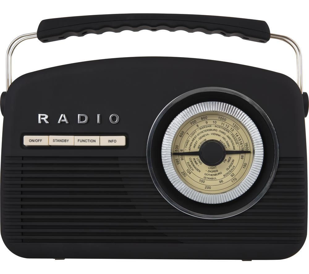 Image of AKAI Vintage A60010VDABB Portable DABﱓ Radio - Black, Black