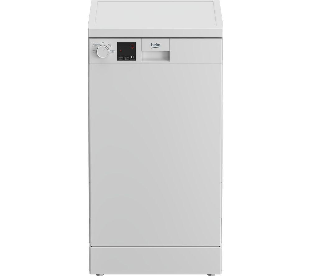 BEKO DVS04X20W Slimline Dishwasher - White