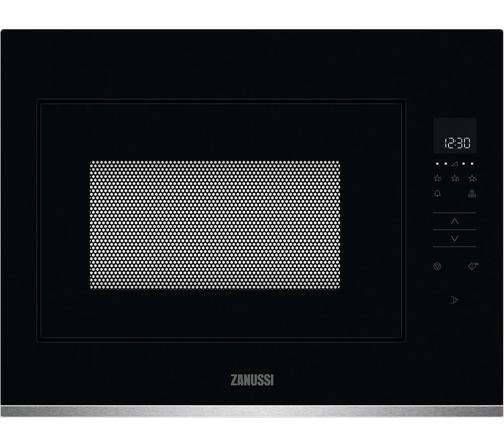 ZANUSSI ZMBN4SX Built-in Solo Microwave - Black & Stainless Steel