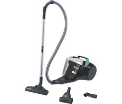 Breeze Pets BR71 BR02 Cylinder Bagless Vacuum Cleaner - Black, Green & Grey