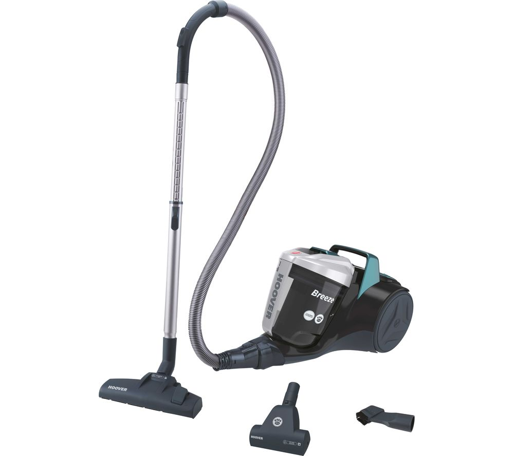 Image of HOOVER Breeze Pets BR71 BR02 Cylinder Bagless Vacuum Cleaner - Black, Green & Grey, Black