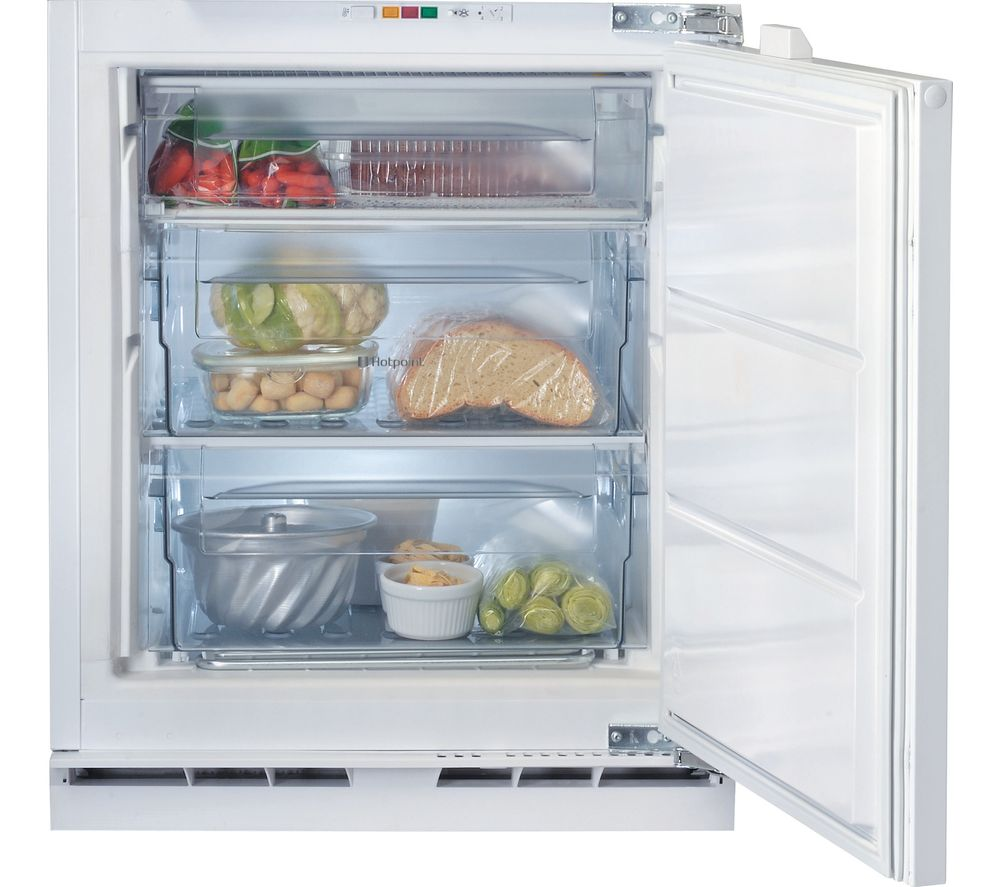 HOTPOINT Aquarius HZ A1.UK Integrated Undercounter Freezer - White, White