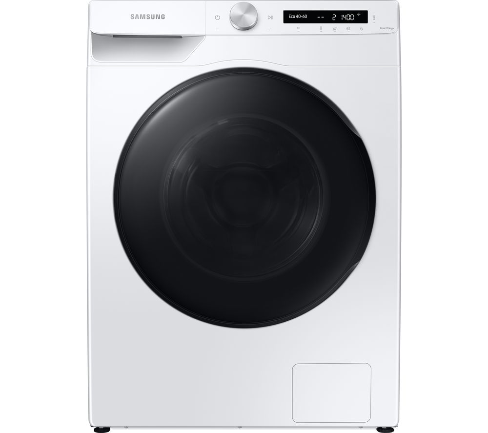 Samsung WD80T534DBW/S1 Freestanding Washer Dryer with ecobubble™and Auto Dose, 9kg Wash/6kg Dry Capacity, 1400rpm Spin, White, B