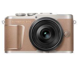 PEN E-PL10 Mirrorless Camera with M.ZUIKO DIGITAL ED 14-42 mm f/3.5-5.6 EZ Lens - Brown
