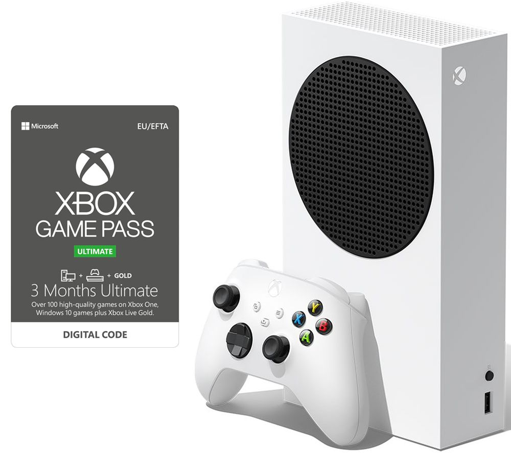 MICROSOFT Xbox Series S & 3 Month Game Pass Ultimate Bundle - 512 GB SSD £279 @ Currys