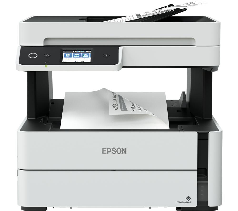 EPSON EcoTank ET-M3170 Monochrome All-in-One Wireless Inkjet Printer with Fax