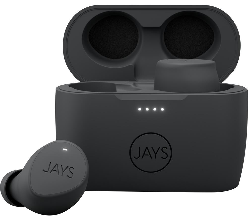 JAYS m-Five Wireless Bluetooth Earphones - Grey