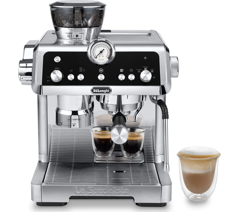 DELONGHI La Specialista Prestigio EC9355.M Bean to Cup Coffee Machine ? Silver, Silver