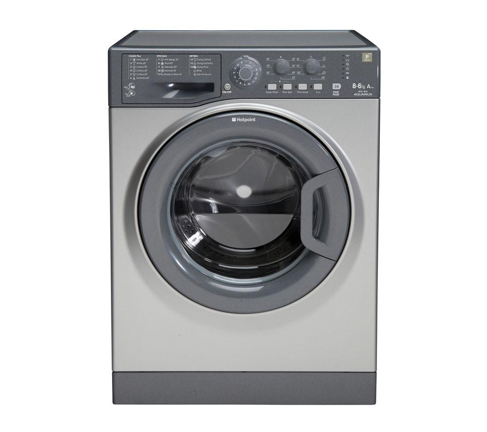 HOTPOINT WDAL8640G Washer Dryer - Graphite, Graphite