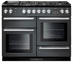 RANGEMASTER Nexus 110 Dual Fuel Range Cooker - Slate & Chrome