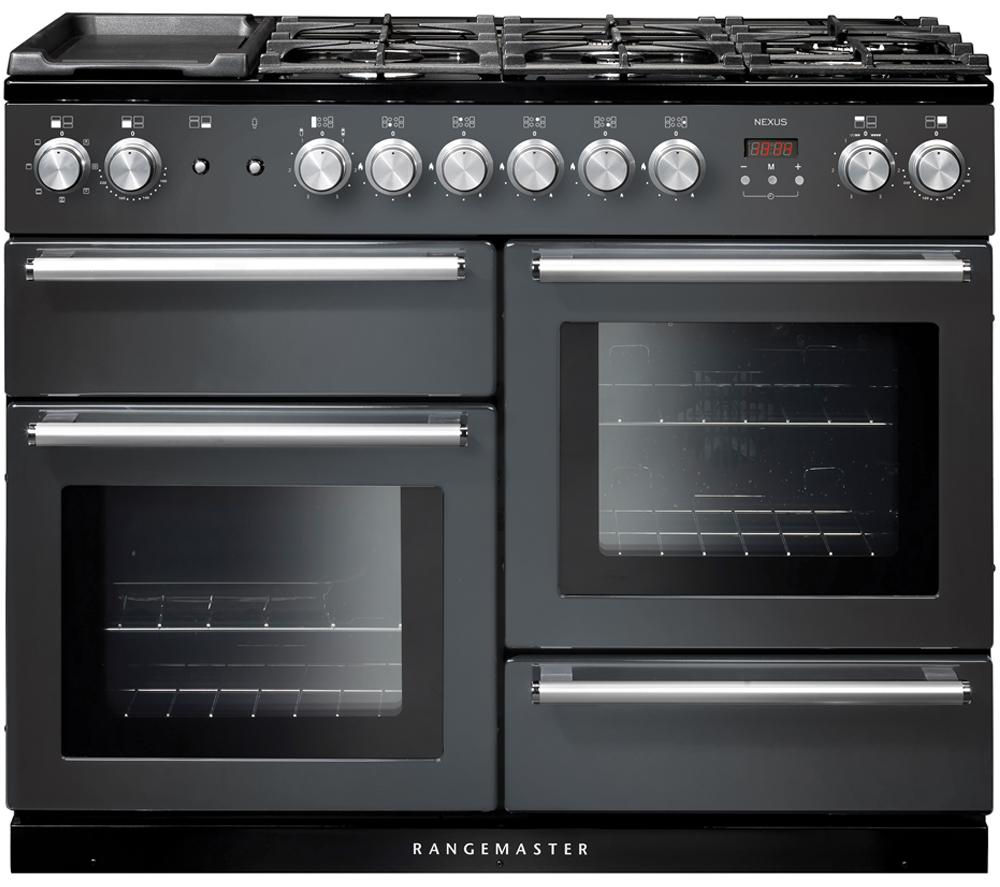 buy rangemaster nexus 110 dual fuel range cooker slate. Black Bedroom Furniture Sets. Home Design Ideas