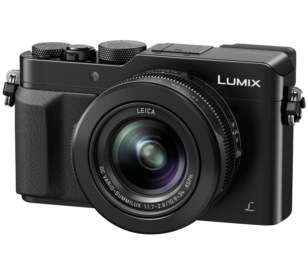PANASONIC Lumix DMC-LX100EBK High Performance Compact Camera - Black + Camera Case - Black + Extreme Plus Class 10 SD Memory Card Twin Pack - 16 GB