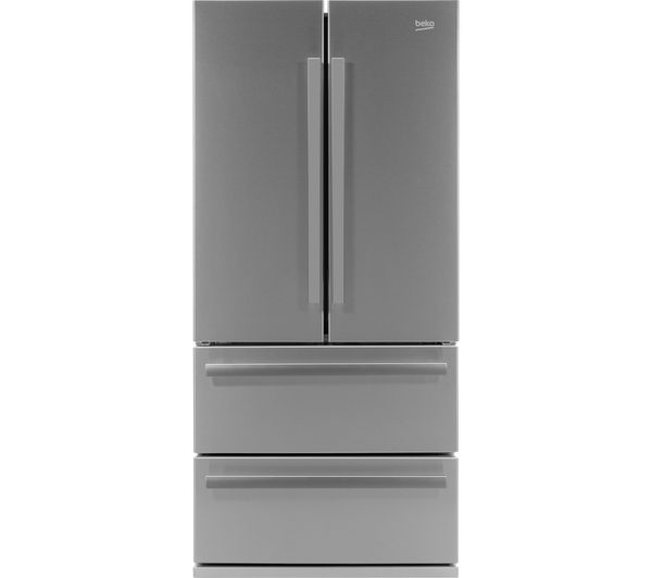 Image of BEKO Pro Select GNE60520X Slim American-Style Fridge Freezer - Stainless Steel