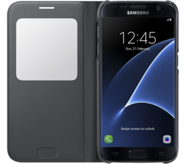 samsung s view galaxy s7 edge cover black deals pc world. Black Bedroom Furniture Sets. Home Design Ideas