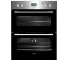 LOGIK LBUDOX16 Electric Built-under Double Oven - Stainless Steel