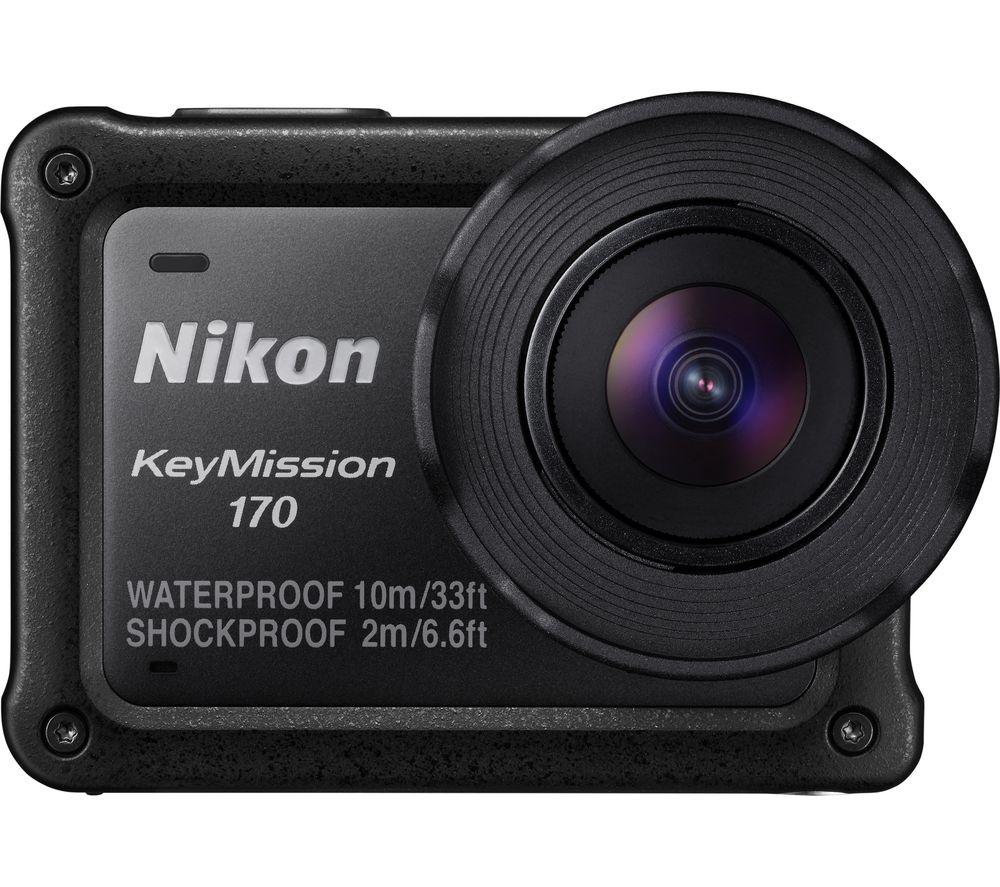 NIKON KeyMission 170 4K Ultra HD Action Camera - Black