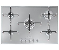 SMEG Linea PX750 Gas Hob - Stainless Steel